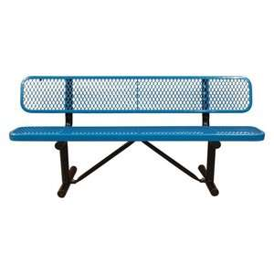 Standard Expanded Metal Commercial Grade Bench with Back