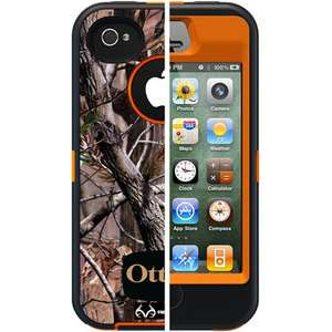 OTTERBOX DEFENDER CASE for APPLE iPHONE 4S   REAL TREE CAMO / ORANGE