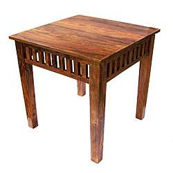 Handcrafted Sheesham Wood End Table (India)