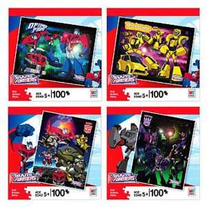 Transformers Animated 100 Piece Puzzles   Set of 4 Toys