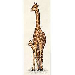 Giraffe Mother and Baby Counted Cross Stitch Kit
