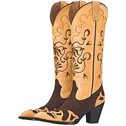 Lane by Anna Harris Womens Frill Cowboy Boots