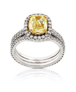 18k Gold 3ct TDW Fancy Yellow Diamond Ring