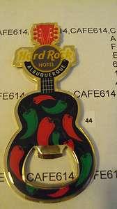 Hard Rock Hotel ALBUQUERQUE Red & Green Chiles Bottle Opener Guitar