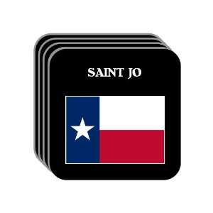US State Flag   SAINT JO, Texas (TX) Set of 4 Mini Mousepad Coasters
