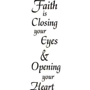 Faith Open Heart Greeting Rubber Stamp: Arts, Crafts & Sewing