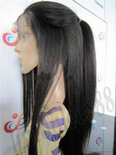 20 French Full Lace Wig India Remi YAKI Straight ~