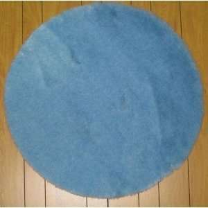 Flokati Faux Fur Rugs Blue 3 Round Home & Kitchen