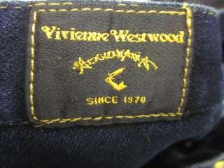 VIVIENNE WESTWOOD Dark Blue Cotton Jean Skirt Sz 8
