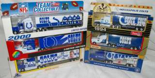 INDIANAPOLIS COLTS Die cast Truck Trailer Collectibles 1993 TO 2003