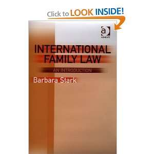 Family Law An Introduction (9780754623410) Barbara Stark Books