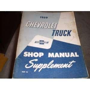 Truck Shop Manual Supplement General Motors Chevrolet Books