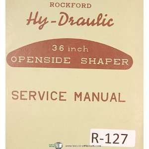 Service Operations, Maintenance & Parts List Manual Rockford Books