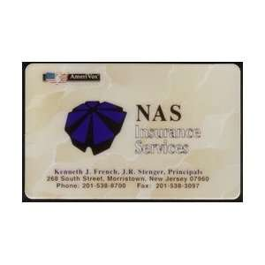 Collectible Phone Card NAS Insurance Services (NJ)   Kenneth J