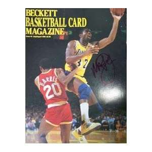 Magic Johnson(Los Angeles Lakers) Autographed Magazine