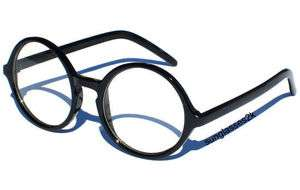 RETRO ROUND COOL NERD CLEAR LENS GLASSES VINTAGE STYLE   BLACK FRAME