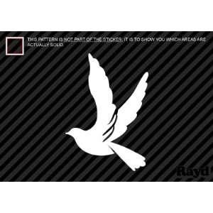 (2x) Dove   World Peace   Love   Sticker   Decal   Die Cut