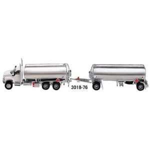 GMC Topkick Tanker Truck w/ Trailer 187 White/Silver
