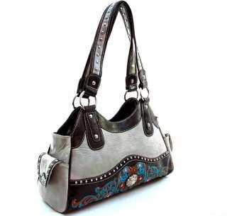 Western Rhinestone Buckle Accented Shoulder Handbag bag