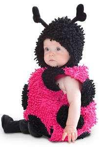 PLUSH LITTLE BABY PINK LADYBUG LADY INFANT BUG COSTUME