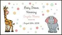 Personalized ZOO ANIMALS BABY SHOWER INVITATIONS