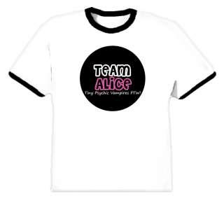 Team Alice Twilight Vampire T Shirt All Sizes