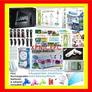 NINTENDO WII CONSOLE+ FIT BUNDLE SPORTS RESORT 4 PLAYER 045496880019