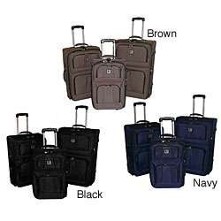Verucci Crown 3 piece Expandable Luggage Set