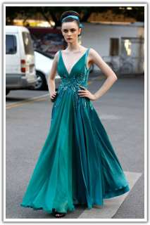 Sequined Chiffon Long Formal Prom Dresses Party Gown Coniefox 55688
