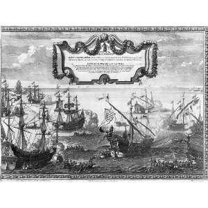 Philip V,King of Spain,1683 1746,hs royal fleet landing at Naples