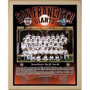 2002 National League Champions San Francisco Giants Championship Team