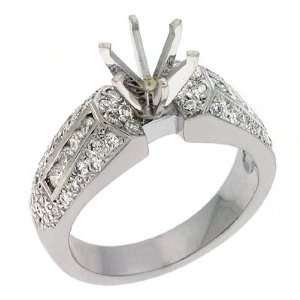 S. Kashi & Sons EN6491WG White Gold Engagement Ring   14KW
