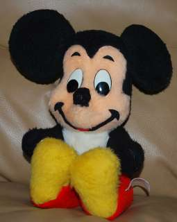 VINTAGE Walt Disney Characters Plush MICKEY MOUSE California Stuffed