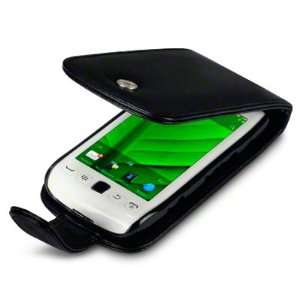 BLACKBERRY TORCH 9850 PREMIUM PU LEATHER FLIP CASE   BLACK