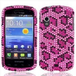 Leopard Bling Hard Case Cover for Verizon Samsung Stratosphere I405