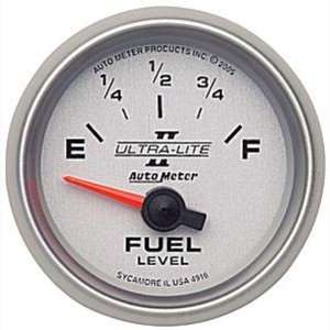 Lite II 2 1/16 240 33 ohms Short Sweep Electric Fuel Level Gauge