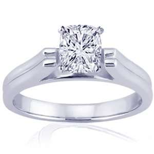 0.70 Ct Cushion Ideal Cut Solitaire Diamond Engagement