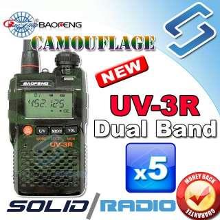 new original Camouflage UV 3R BAOFENG Dual Band radio + Earpiece 2