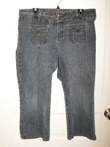 Womens Juniors JORDACHE Lo Rise Stretch Denim Jean Capri Pants Size