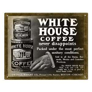Coffee can white house brand sign / kitchen wall decor art