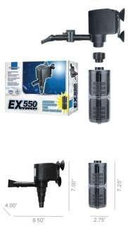 550 GPH Powerhead Water Pump Aquarium Free Filter New