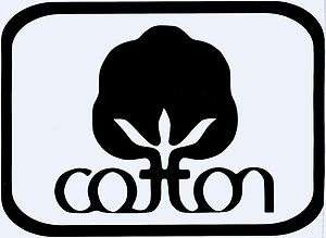 COTTON LABEL Logo Vinyl / Decal U Pick Size & Color Home or Auto