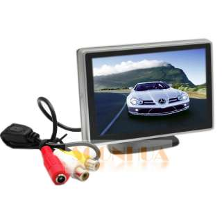 TFT LCD Screen Car DVD VCR Reverse Rear View Monitor Silver