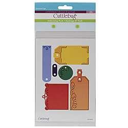 Cuttlebug Plus Embossed Tags 5x7 in Embossing Folders