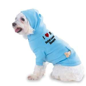 I Love/Heart Polish Lowland Sheepdog Hooded (Hoody) T