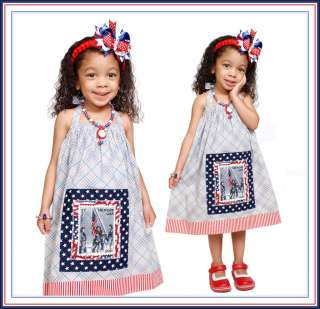 BOOAK Boutique Custom America Birthday Adoption USA Flag Dress Outfit