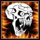 Skull 2 airbrush stencil template harley paint items in airbrushing