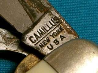 VINTAGE CAMILLUS USA WHITE BSA BOY SCOUTS UTILITY SURVIVAL JACK KNIFE