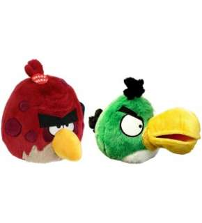 Angry Birds 8 Plush Toucan & Big Brother With Sound Set Of 2 *New