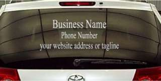 Window Business Sign Vinyl Decal Sticker Sign Lettering Vehicle Car